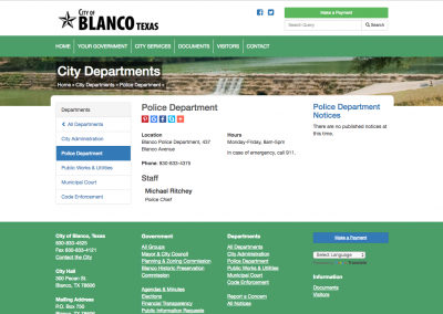 Blanco Police Department