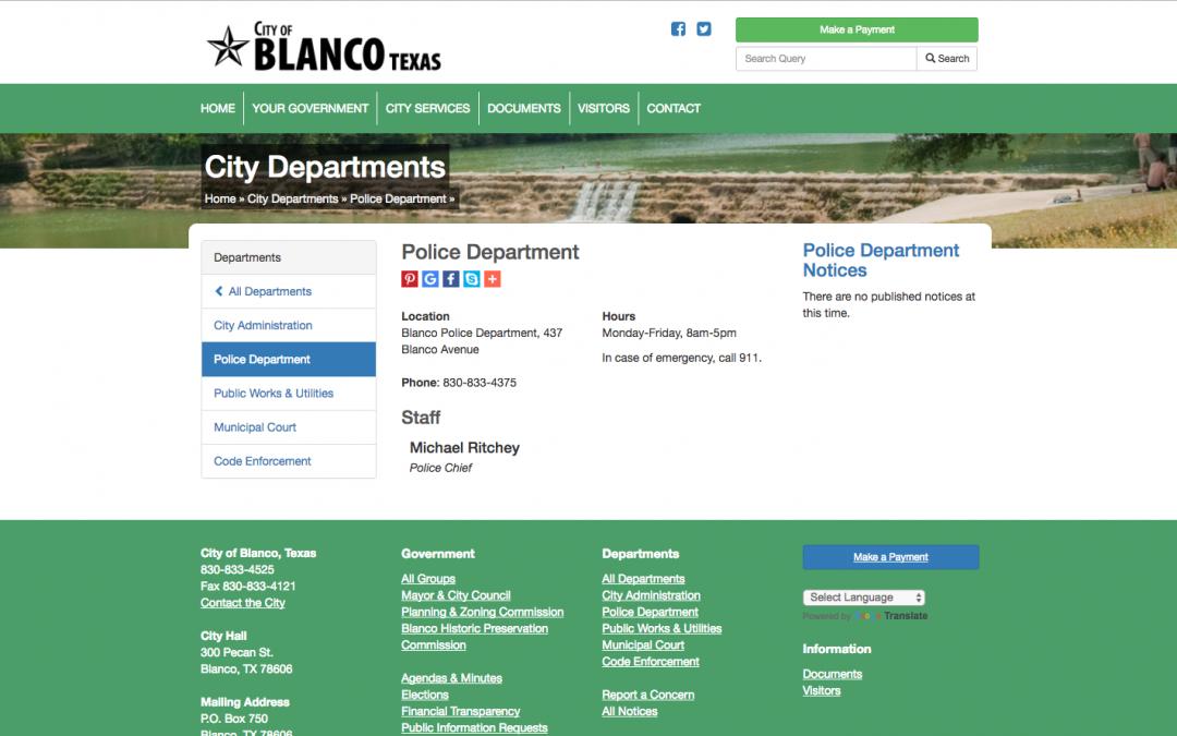 Blanco Police Department